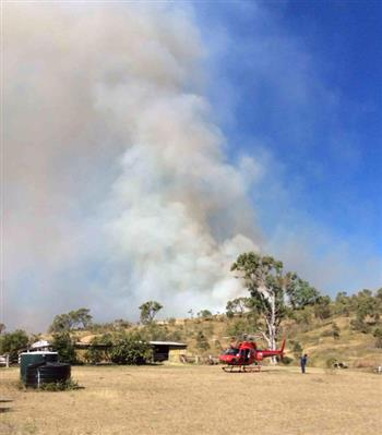 Limestone Creek (north-east of Rockhampton) - bushfire as at 5pm Mon 27 April