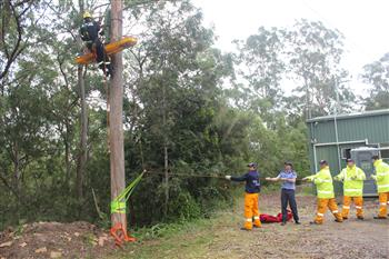 QFES volunteers and personnel joint exercise training