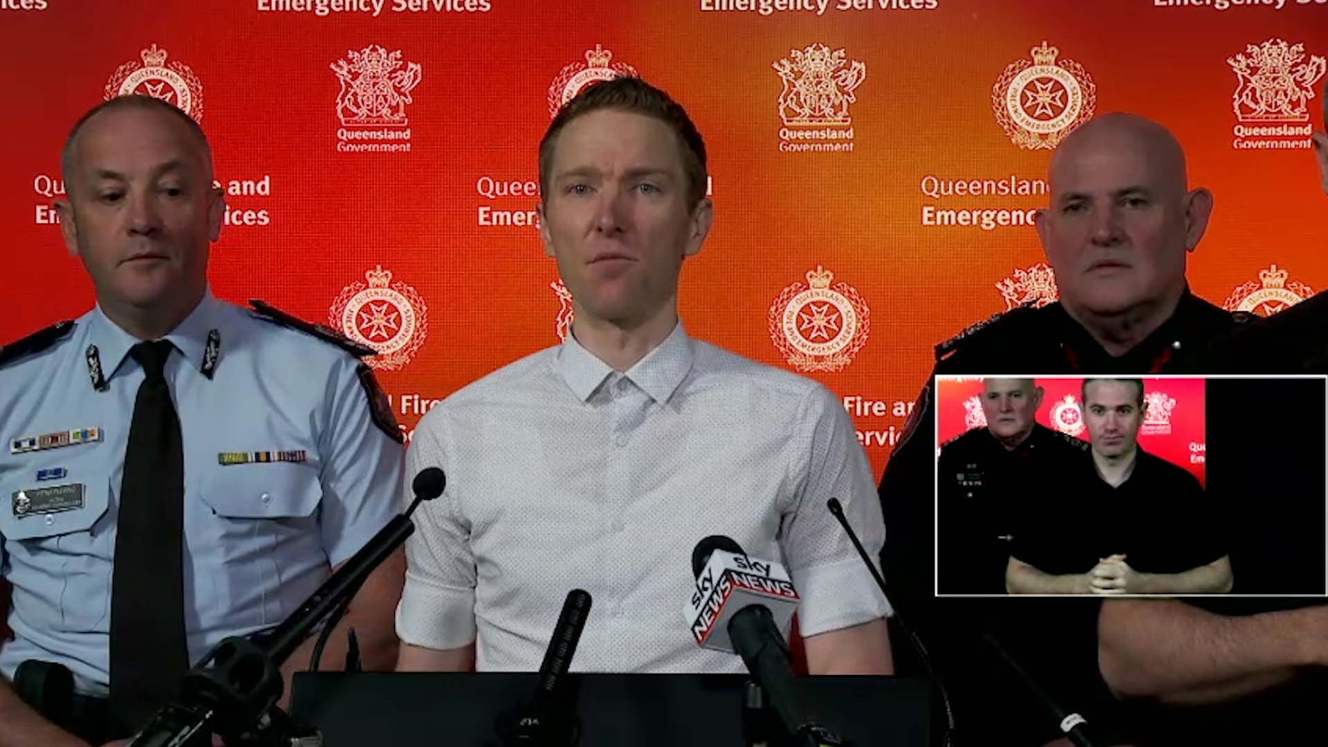 Emergency Services update weekend storm conditions and ask public to be prepared for wild weather.