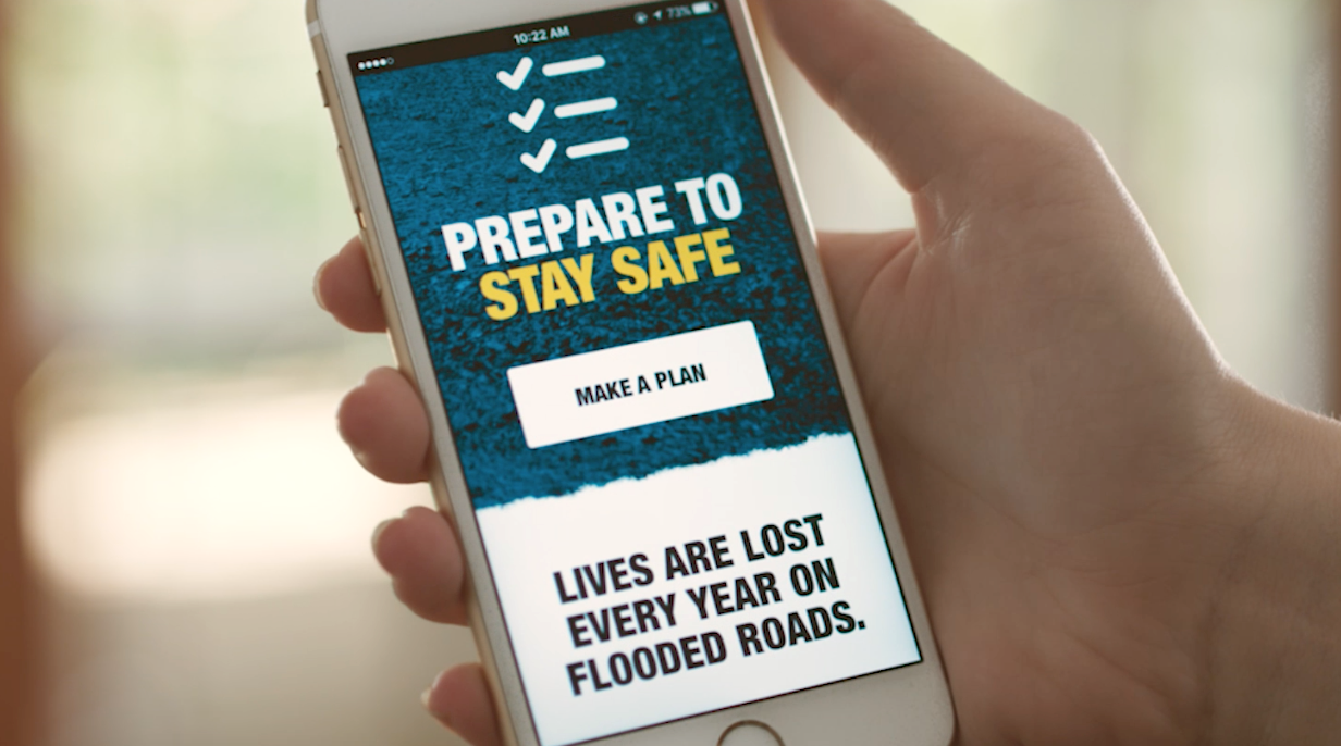 Police, Fire and Emergency Services Minister Mark Ryan and Queensland Fire and Emergency Services (QFES) Commissioner Katarina Carroll launch the 2016-17 If it's flooded, forget it, advertising campaign