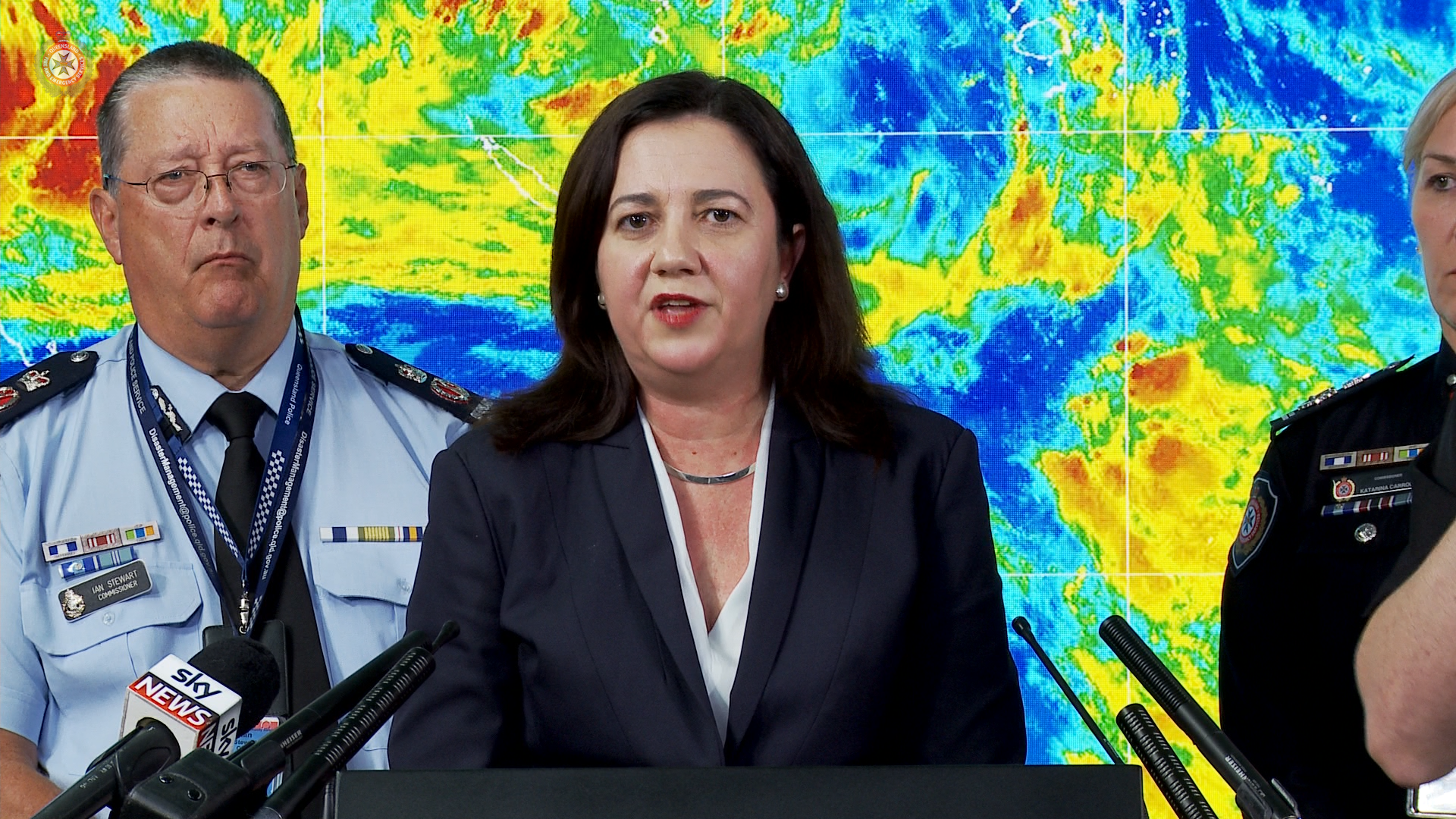Queensland's Premier and Emergency Services continue to update residents of Queensland