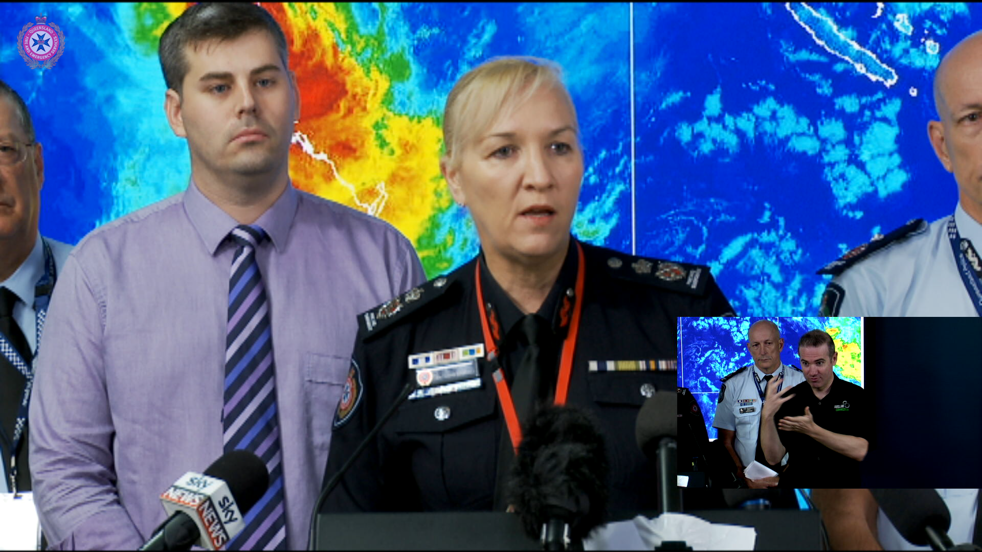 Emergency Services and the Bureau of Meteorology update on severe weather conditions after ex-Cyclone Debbie