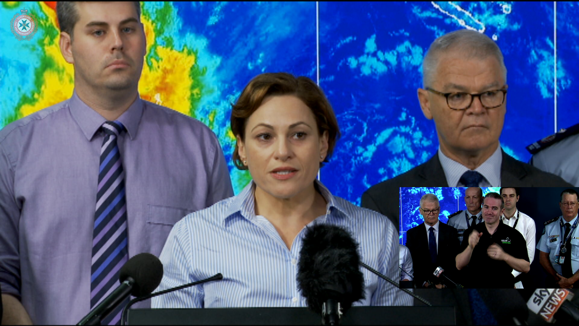 Queensland Deputy Premier and Emergency Services update on severe weather conditions in the state, particularly in relation to the closure of schools.