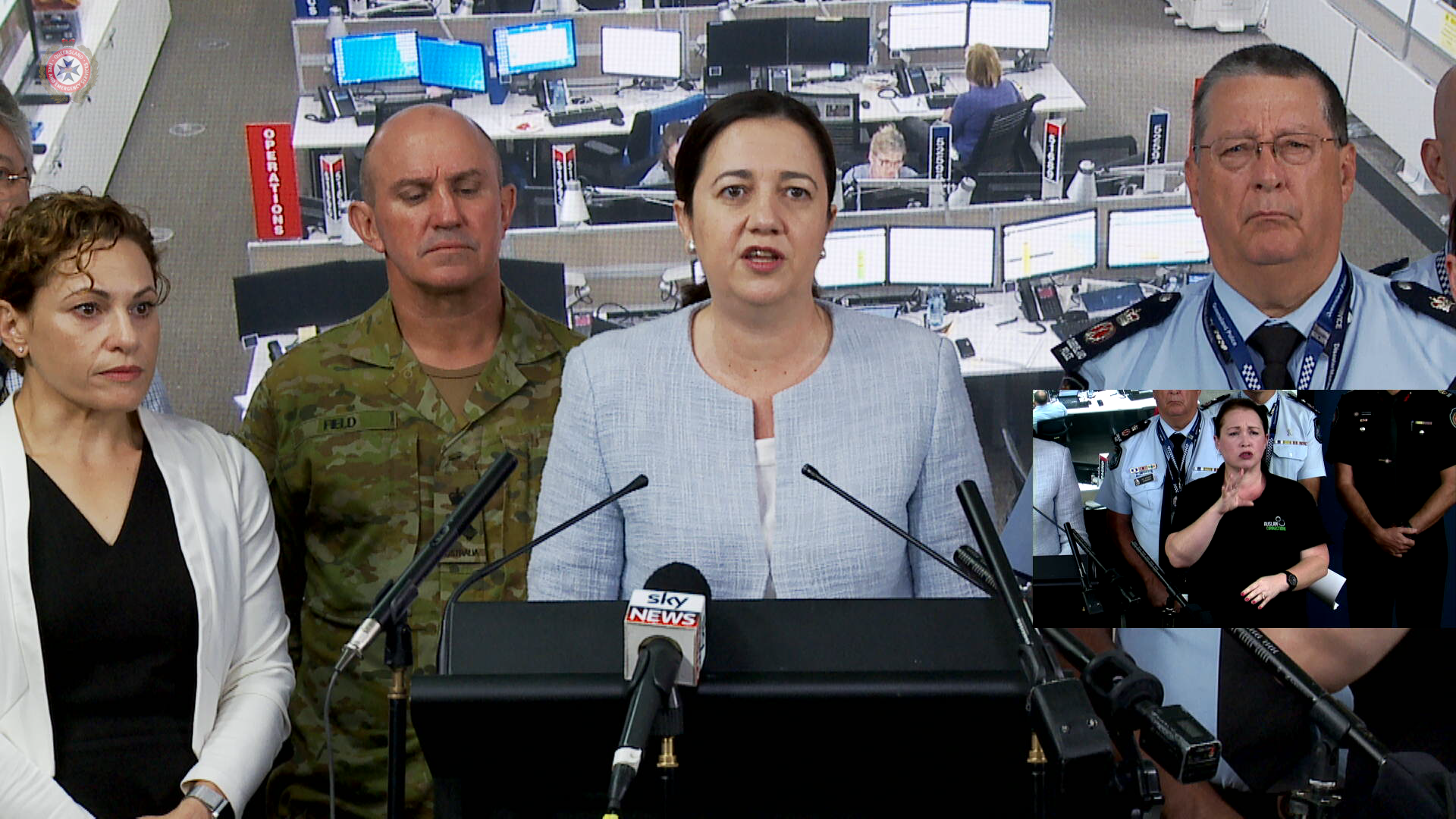 Queensland Premier, Brigadier Chris Field, and Emergency Services on the flooding in Rockhampton and recovery throughout the state in the wake of severe weather conditions caused by ex-Cyclone Debbie.