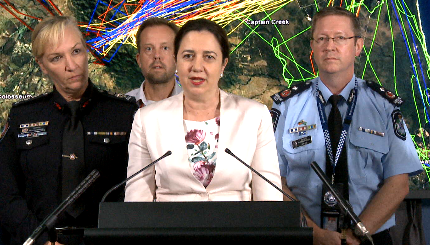 Evening Press Conference on the latest fire conditions for Queensland, December 3 2018.