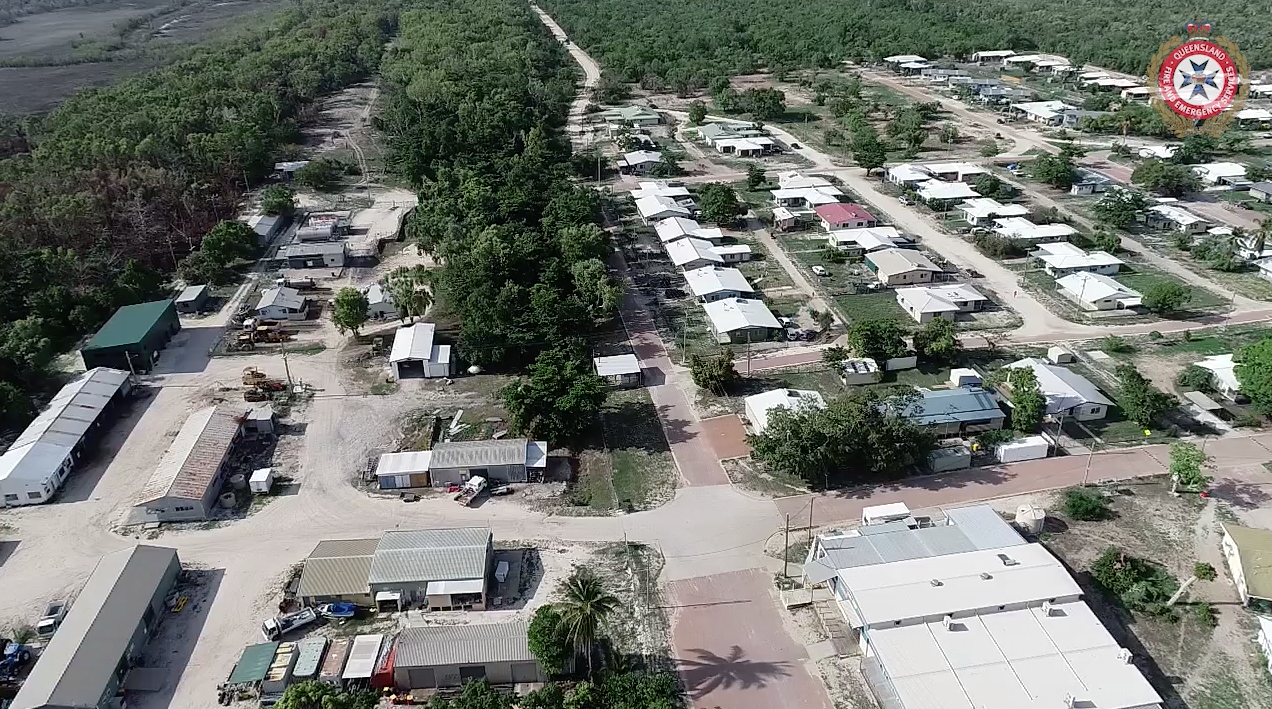 Drone footage of Pormpuraaw from before TC Owen