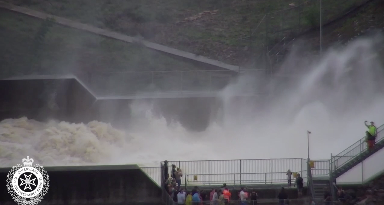 Aerial flood footage from Pioneer Park, Rasmussen and the Ross River Dam.