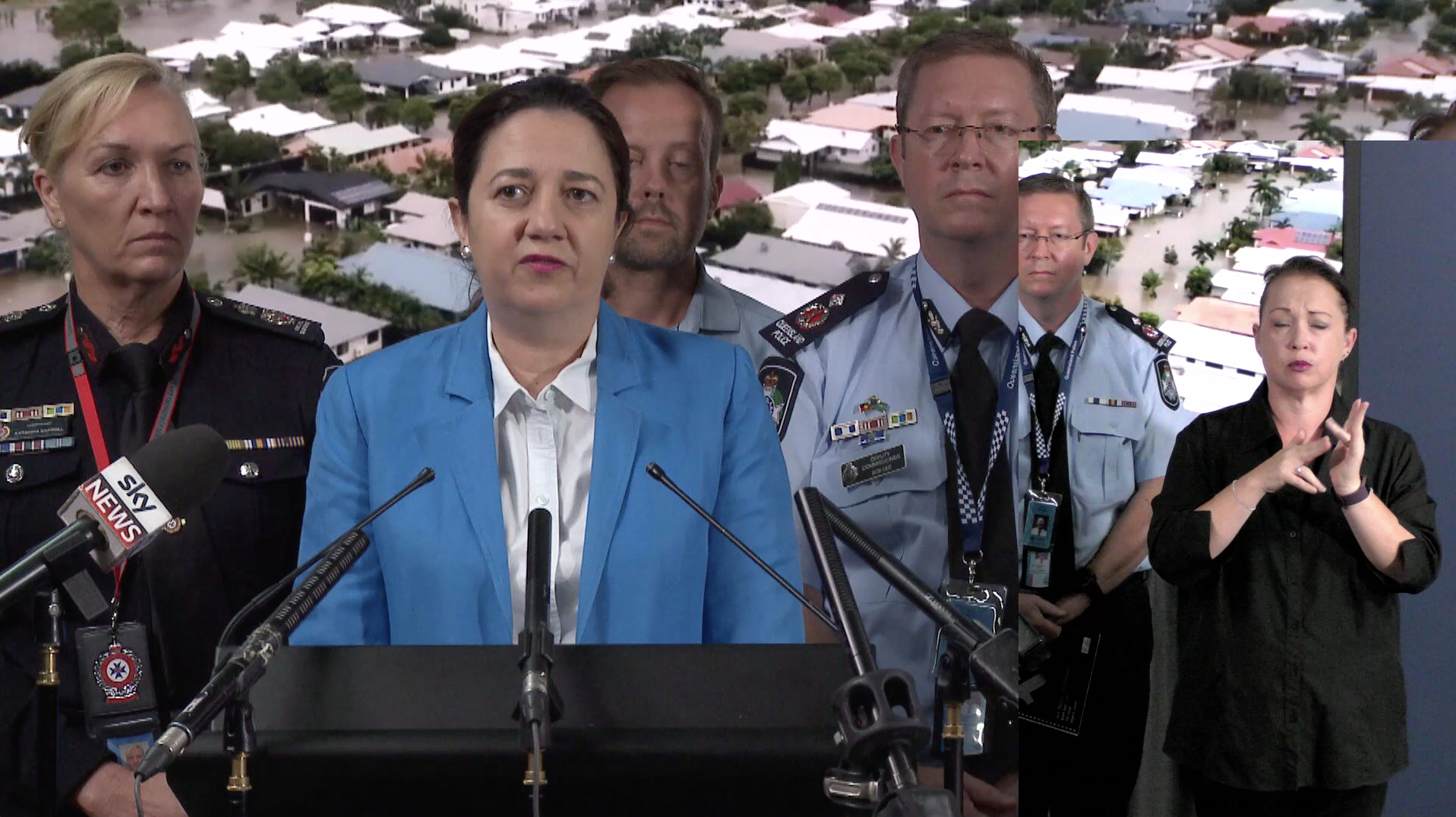 Emergency Services spokespersons report on the latest flood information affecting the central coast region.