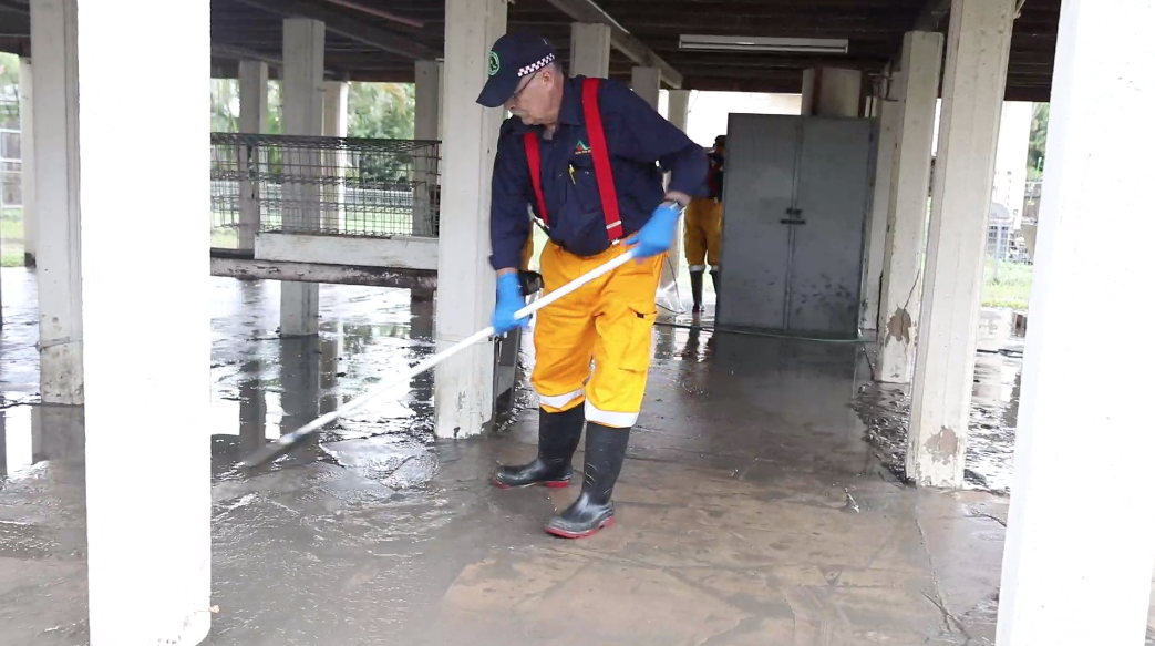 Footage taken during flood recovery in Townsville...