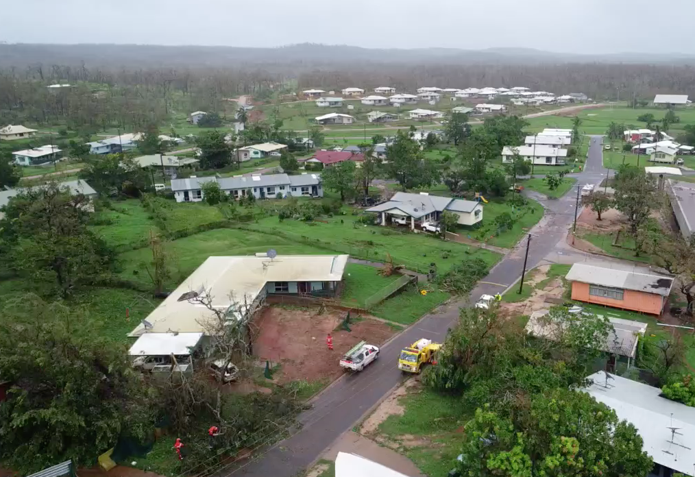 Drone Footage from Lockhart River showing devastation caused by Tropical Cyclone Trevor taken on Thursday March 21 2019