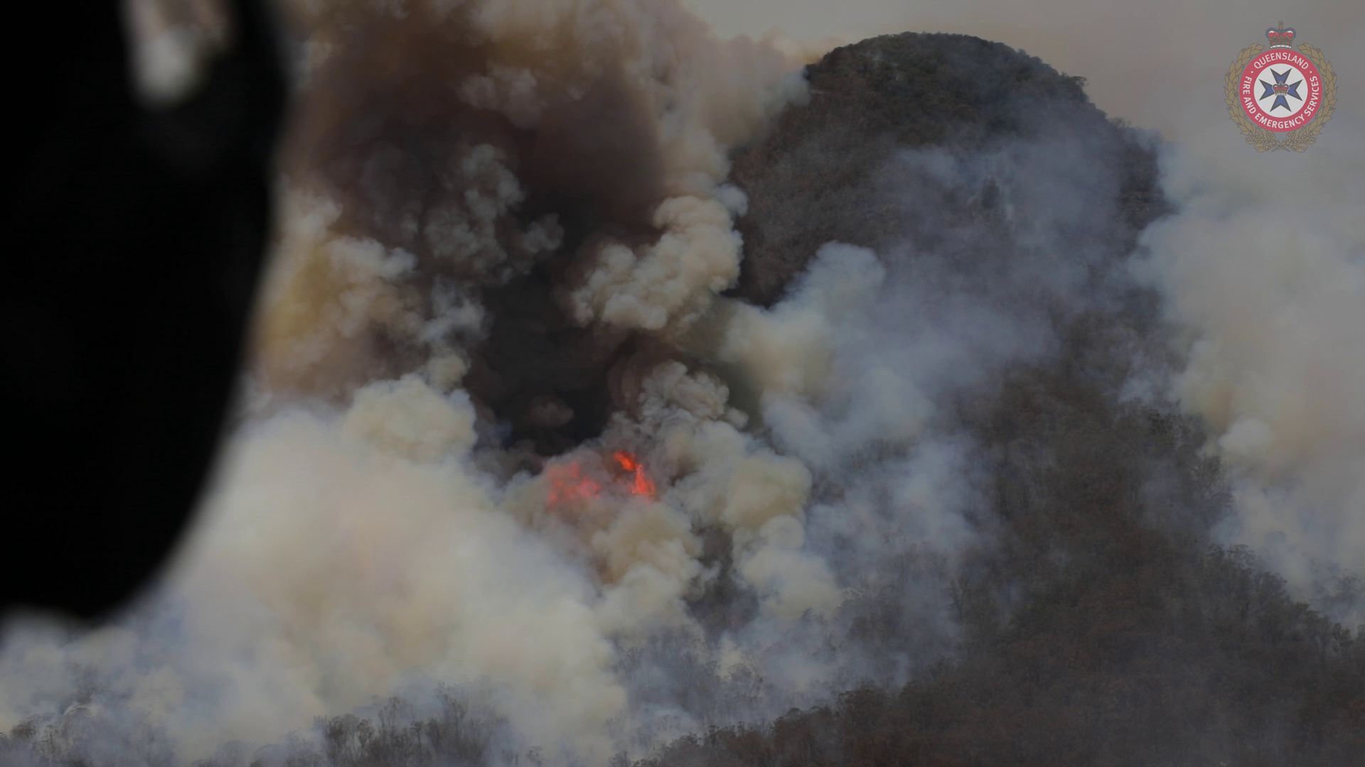 Aerial vision of the Fires at Clumber region