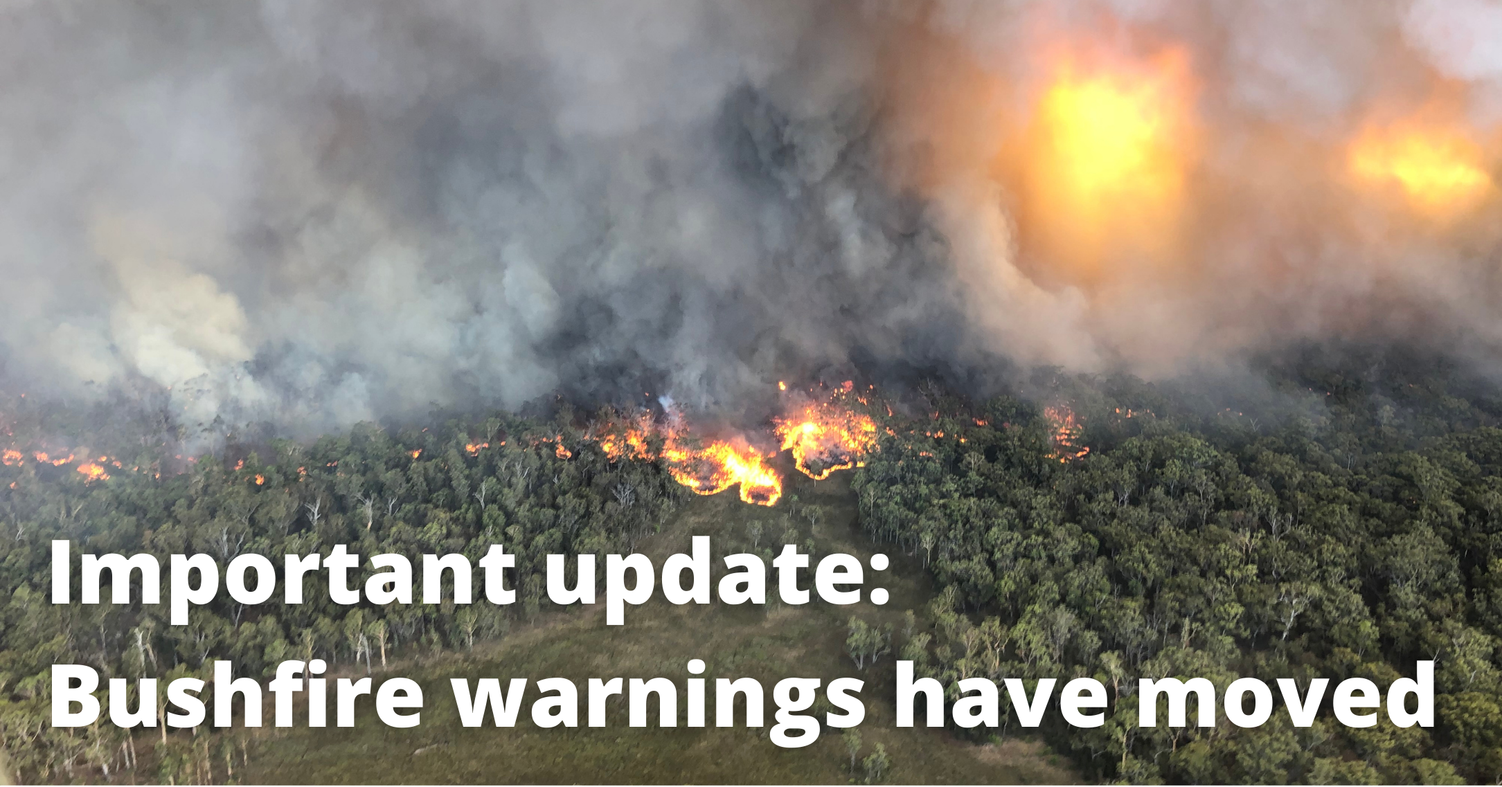 Important update: Bushfire Warnings have moved!