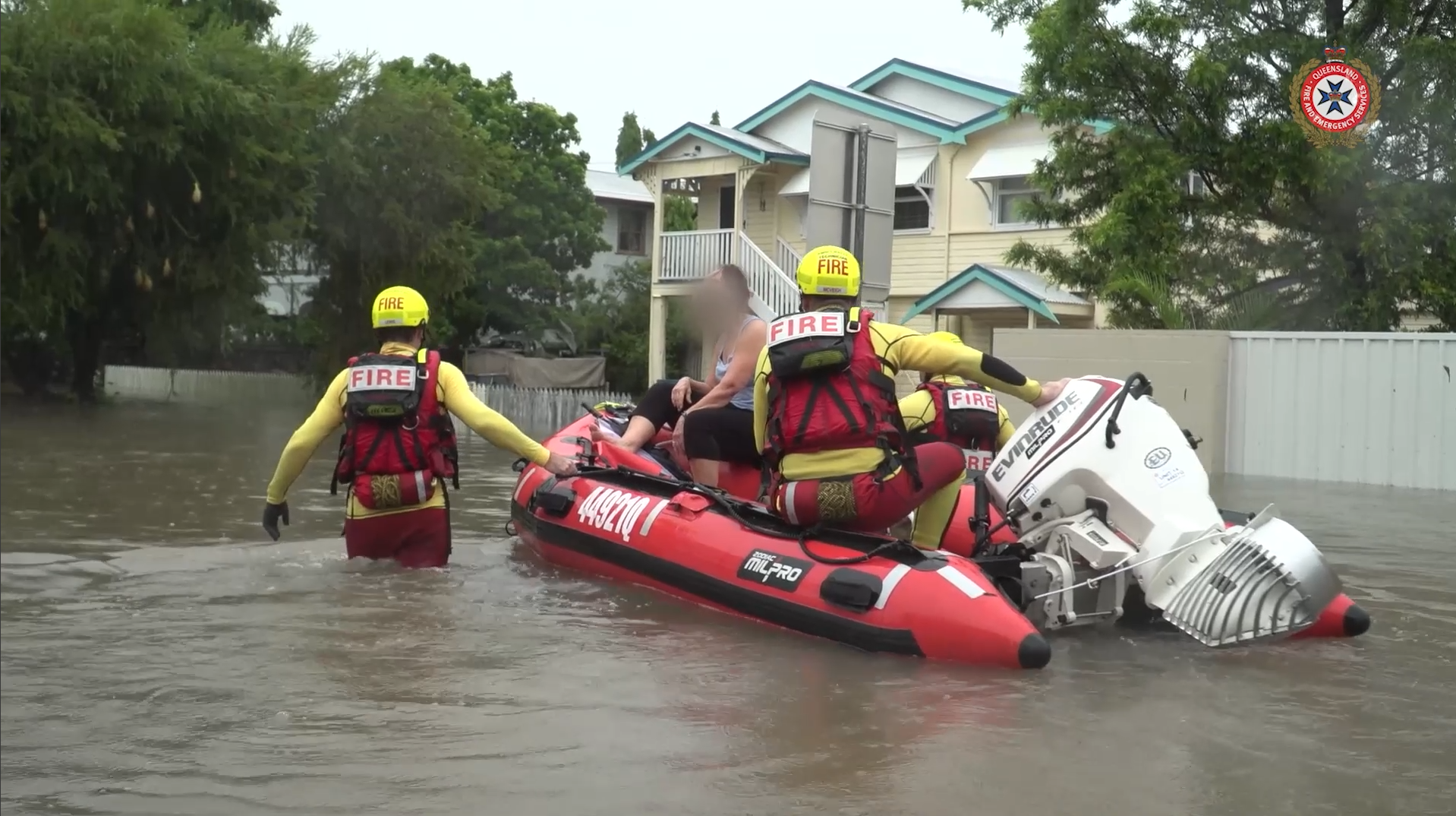 Vision of FRS, SES and RFS units helping communities recovery from storms, cyclones and floods.