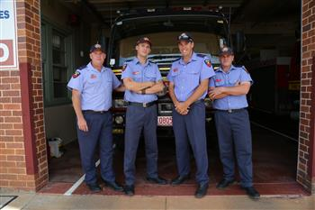 Charleville firefighters at Charleville Fire and Rescue Station