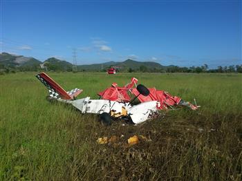 Donnington Ultralight Crash