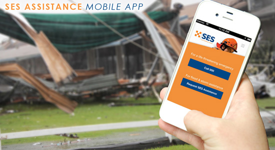 What is the best way to contact SES for flood or storm emergency assistance?
